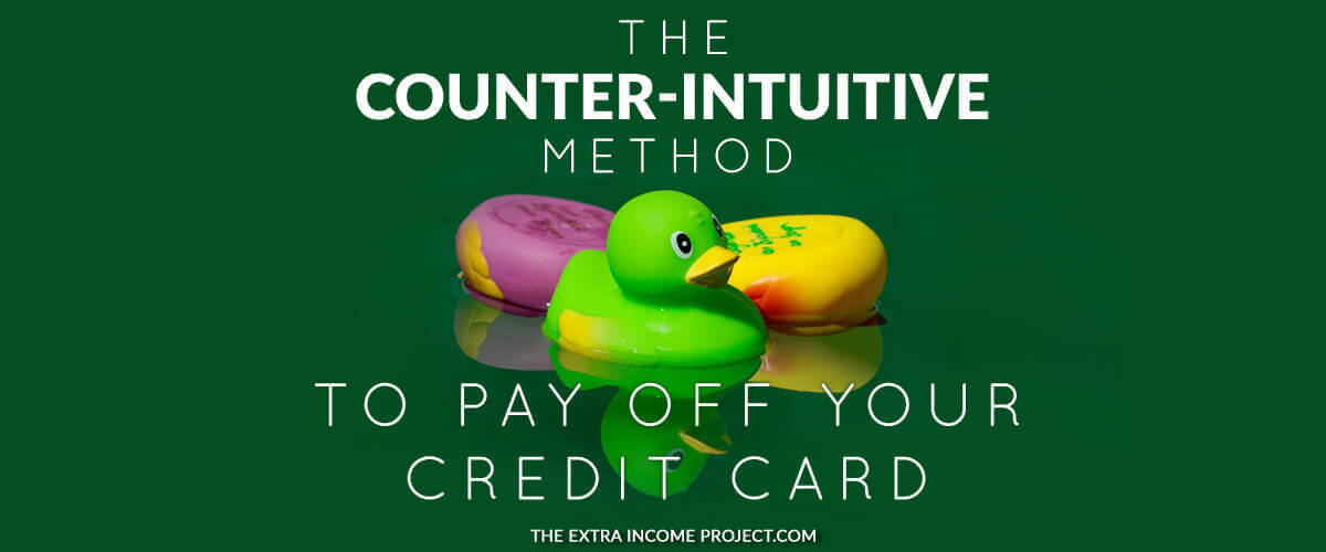 Learn how you can pay off credit card debt with the Counter-Intuitive Method to pay off your credit card. If you want to pay off your credit card fast this strategy will help. It will speed up how quickly you pay your credit card off, it will save you money on interest and ensure your hard earned cash goes into your pocket, rather than the banks!