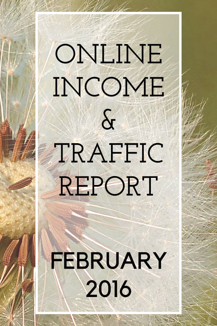 The Extra Income Project's February 2016 Blogging Online Income & Traffic Report #blogging #income #debtfree