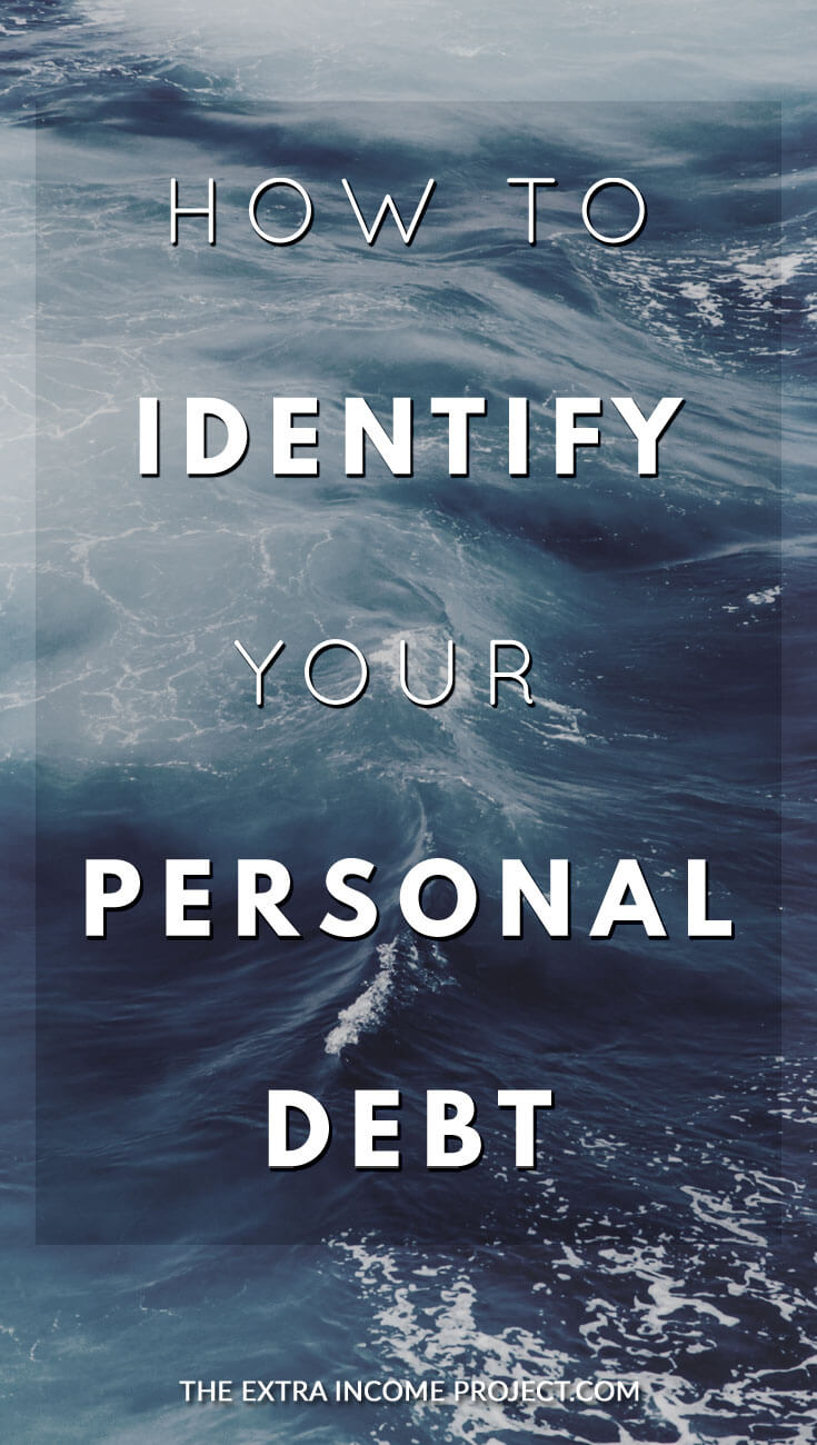 If you are overwhelmed with debt, or you've lost track of who you owe money to, this post will help you figure out how to figure out  your personal debt and start on the journey to paying it off.