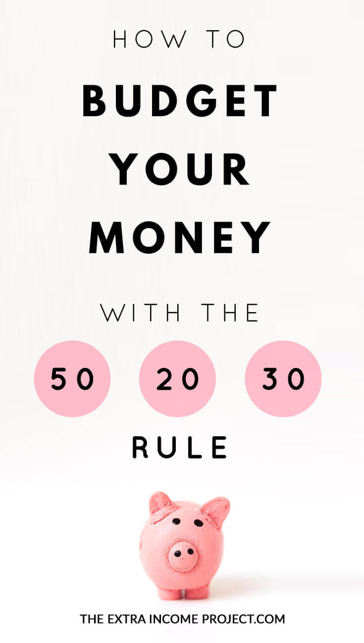 How to Budget Your Money with the 50 / 20 / 30 Rule. These budgeting tips will show you how you can make your budget more efficient by using the 50-20-30 budget rule. Click for details and download my FREE budget planner to get your started.