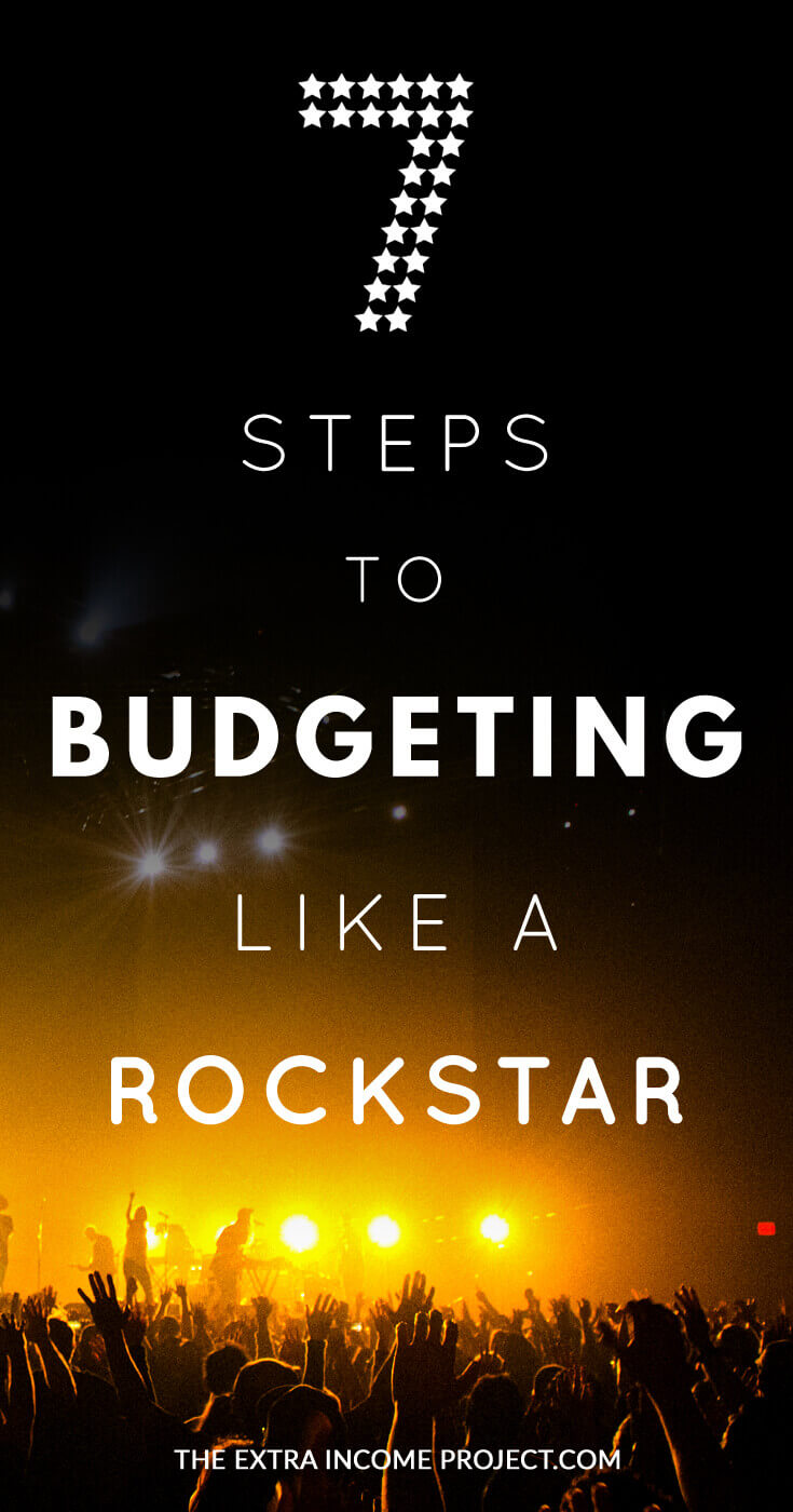 7 Steps to Budgeting Like a Rockstar - Find extra cash and put money back in your pocket! This article give you bugeting tips on how to approach creating a budget and how a family budget can benefit you. Include a FREE download of my budget spreadsheet template that I use for my weekly budgeting.