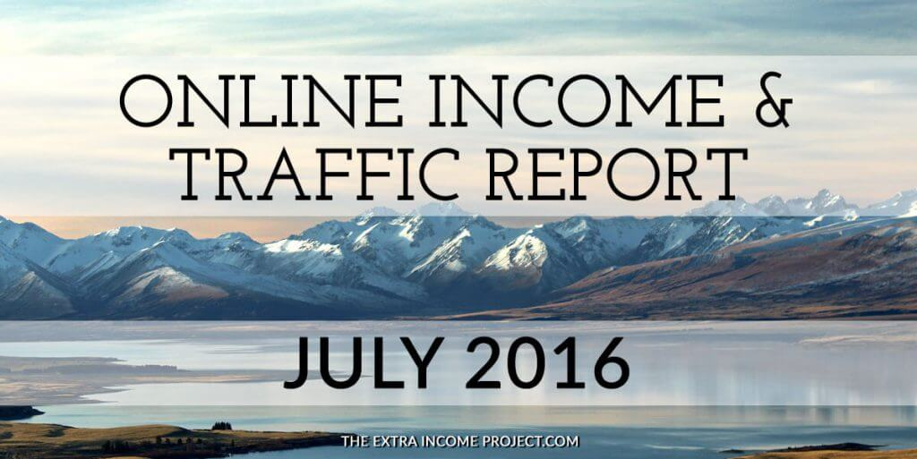 July 2016 Online Income & Traffic Report