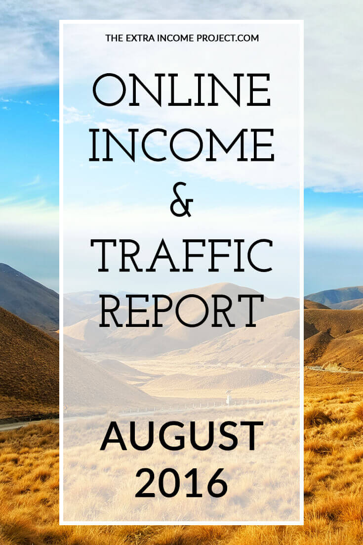 The Extra Income Project's August 2016 Online Blogging Income & Traffic Report - Find blogging tips & tricks, blogging help and advice on affiliate marketing for your blog inside this report. Click for details.