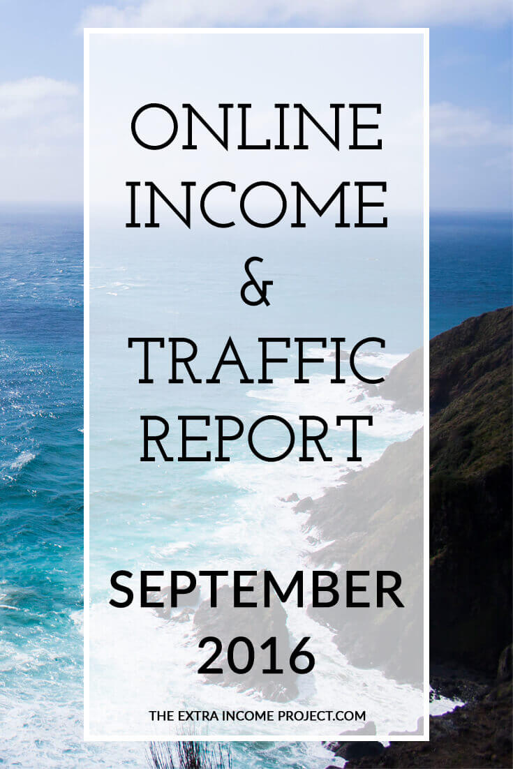 The Extra Income Project's September 2016 Online Blogging Income & Traffic Report - Find blogging tips & tricks, blogging help and advice on affiliate marketing for your blog inside this report. Click for details.