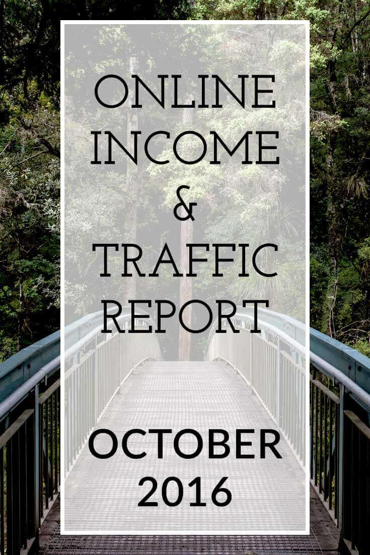 The Extra Income Project's October 2016 Online Blogging Income & Traffic Report - Find blogging tips & tricks, blogging help and advice on affiliate marketing for your blog inside this report. Click for details.