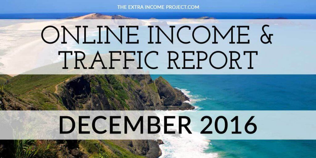 December 2016 Online Income & Traffic Report