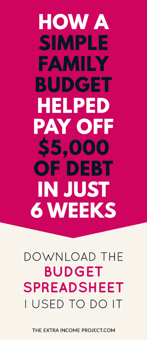 How A Simple Family Budget Paid Off $5000 of Debt in Just 6 Weeks
