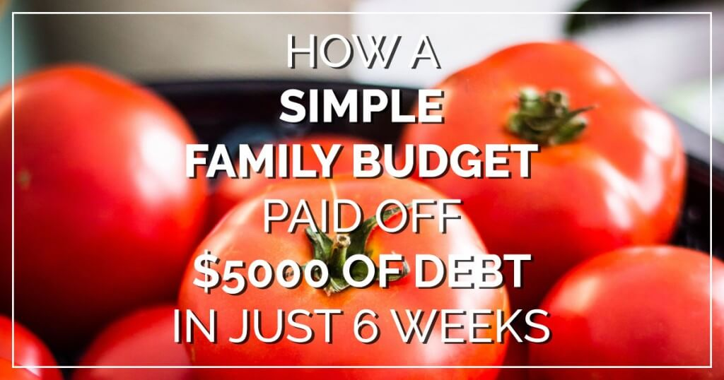 How a simple family budget paid off $5000 of debt in 6 weeks