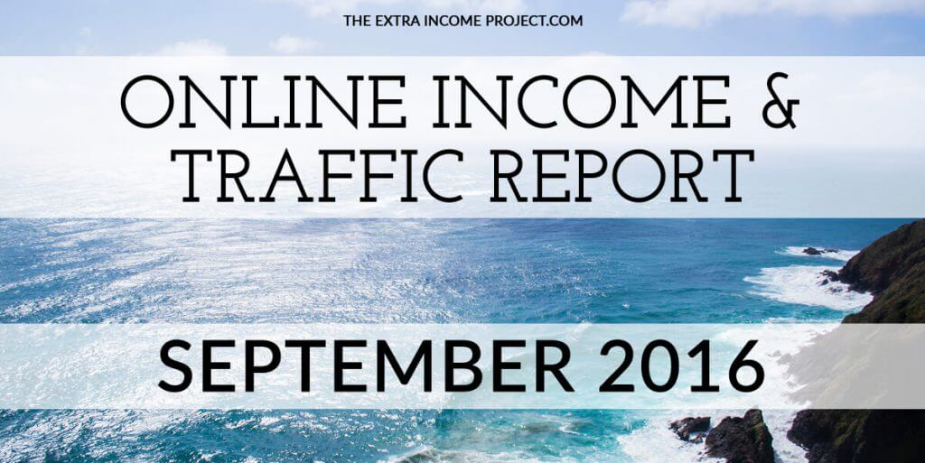 September 2016 Online Income & Traffic Report