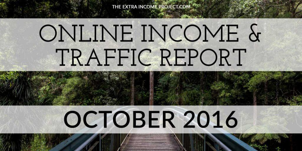 October 2016 Online Income & Traffic Report