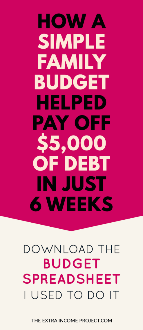 how a simple family budget paid off 5000 of debt in just 6 weeks